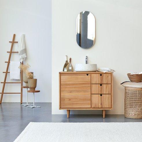 Mueble de lavabo de teca 95 Jonàk