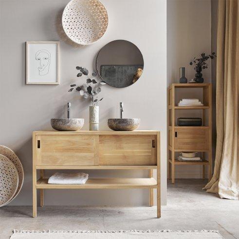 Mueble de lavabo de teca natural 120 Arty