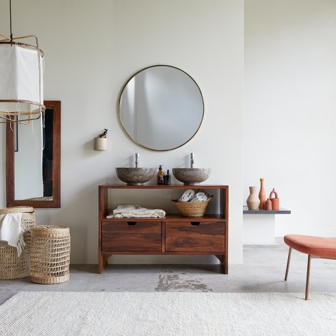Mueble de lavabo en palisandro 110 Kwarto
