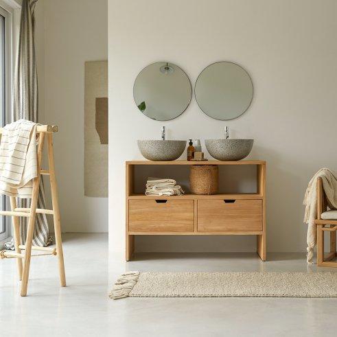 Mueble de lavabo en teca 110 Kwarto