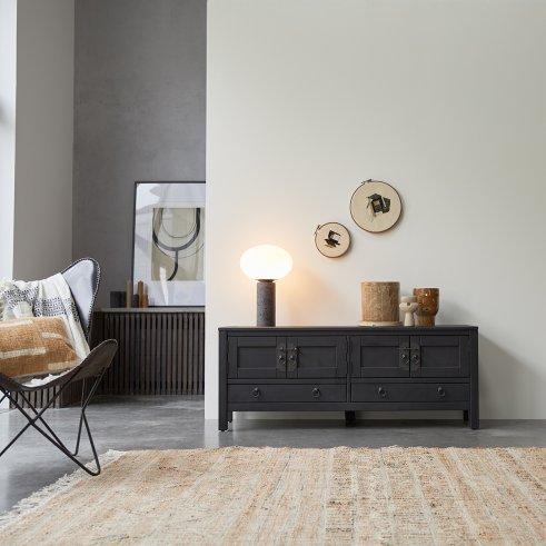 Mueble de TV wengé 140 Thaki black