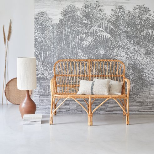 Natural Rattan Double Armchair