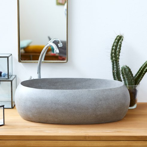 Orion Terrazzo Washbasin 55 grey
