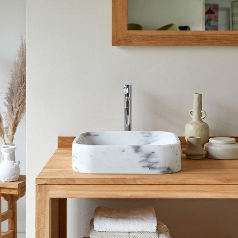 Perseus white Marble Washbasin