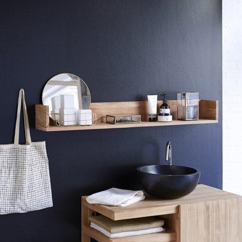 Scaffale a parete per bagno in Teak Arty