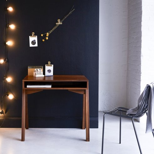 Schreibtisch aus Nussholz 90 Stubenrauch
