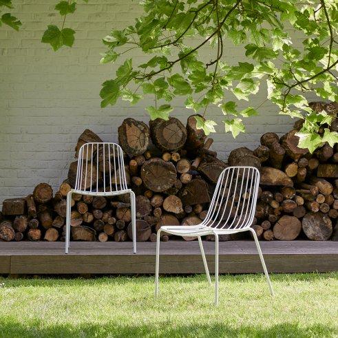 Sedia da giardino in metallo Arty white