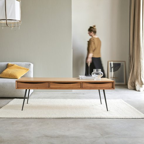 Simen teak coffee table 135x65