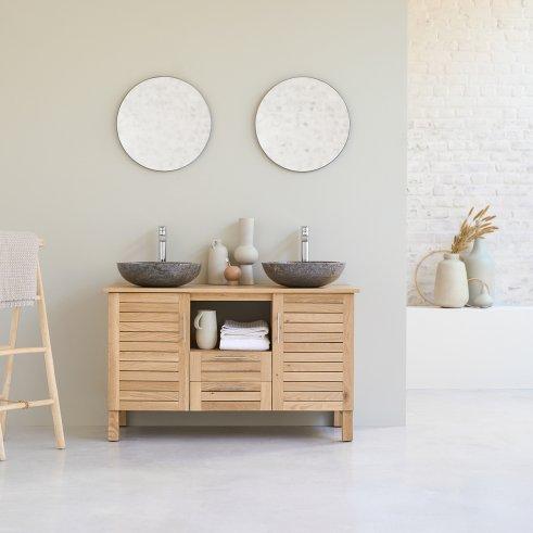 Soho Oak 125 oak bathroom unit