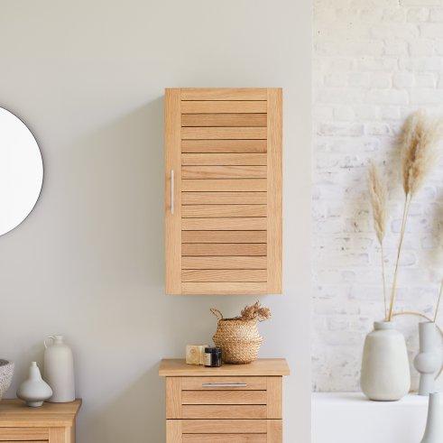Soho Oak 40 modular wall unit in oak