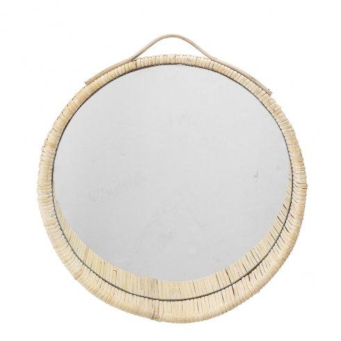 Specchio in midollino 40 Rufin