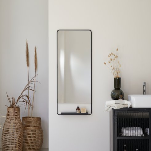 Spiegel schwarz 110x45 Element