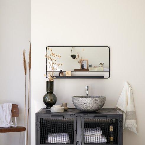 Spiegel schwarz 80x40 Element