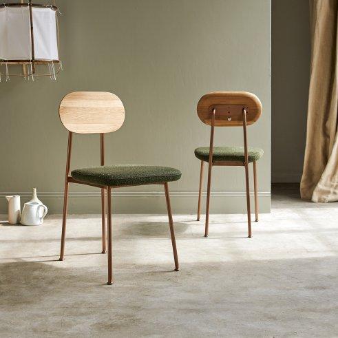 Stuhl aus Eiche Yutapi khaki