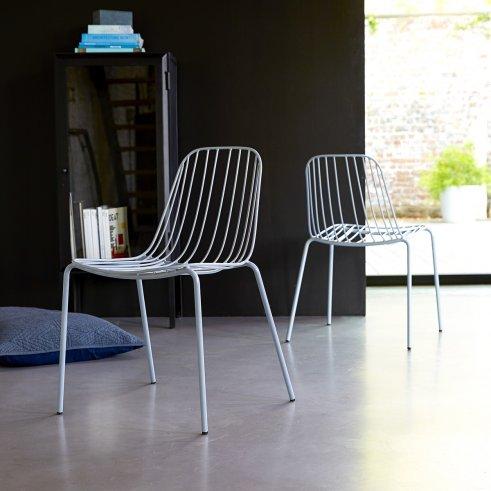 Stuhl aus Metall Arty bleu grey