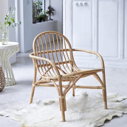 Stuhl aus Rattan Mina natur