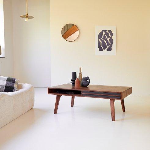 Table basse en palissandre 115x60 Niels