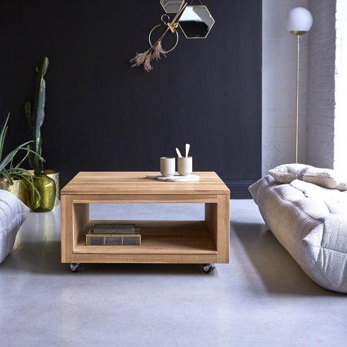 Table basse en teck 80 Anoa square