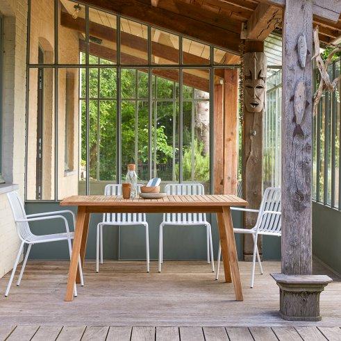 Table de jardin en teck 140 Pamoa