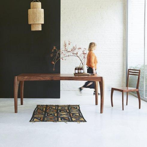Table de salle à manger 180x90 en palissandre Luna