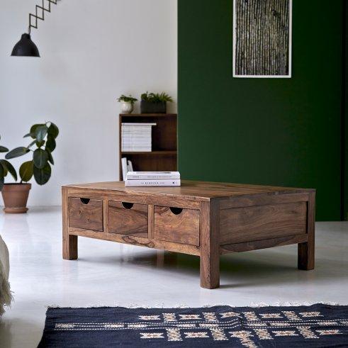 Table de salon en palissandre 110x75 Oliver