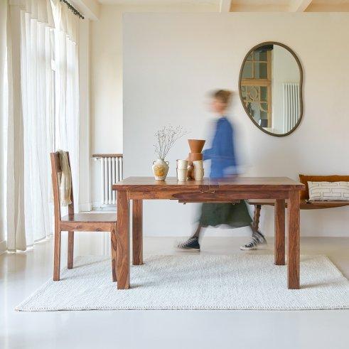 Table en palissandre à rallonges 180x90 Mezzo