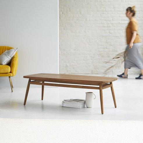 Tavolino in Teak 120x50 Twist