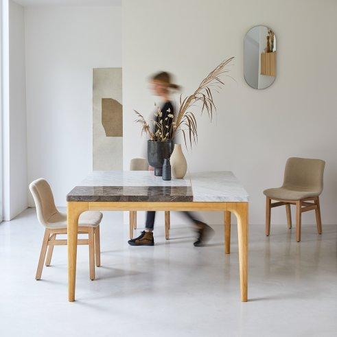 Tavolo in Quercia e Marmo 131 Stonepiet