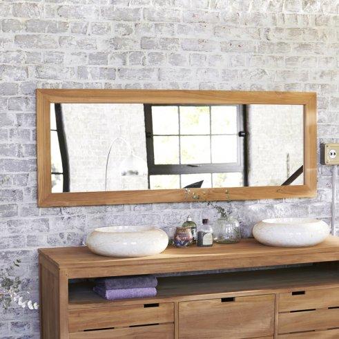 Tona Teak Mirror 160x60