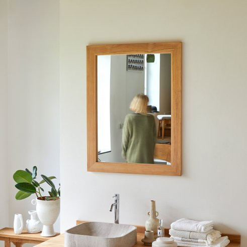 Tona Teak Mirror 90x70