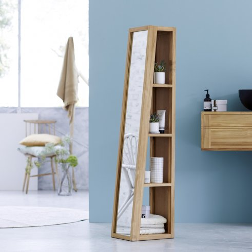 Twig Teak Mirror Column 30