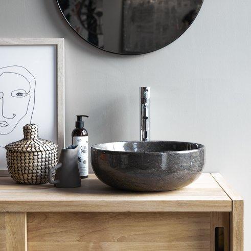 Vasque en marbre Pia dark Grey