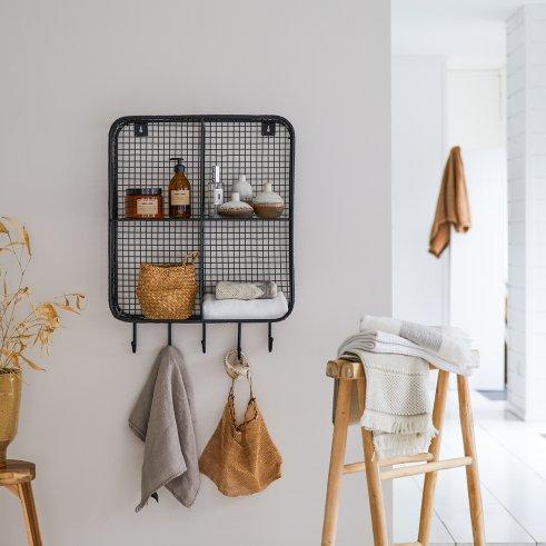 Wandregal für Badezimmer aus Metall 50 Stella
