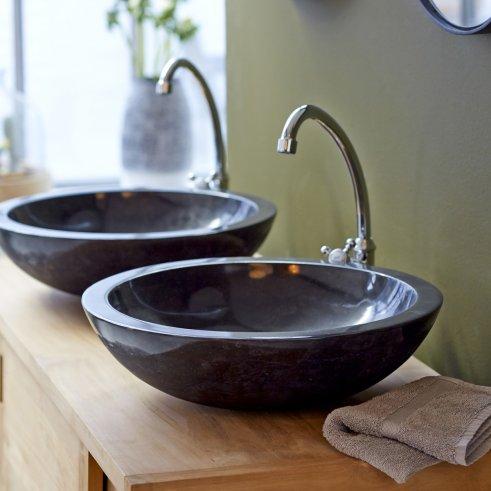Waschbecken aus Marmor Calypso Black