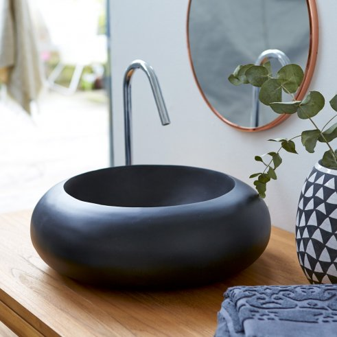 Waschbecken Terrazzo Acqua schwarz