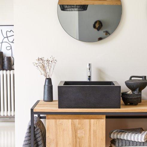 Waschbecken Terrazzo Pegase 42 schwarz