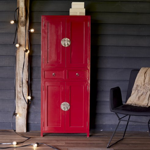 Yuki red Mahogany Wardrobe 150