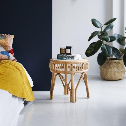 Zelie Rattan Bedside Table