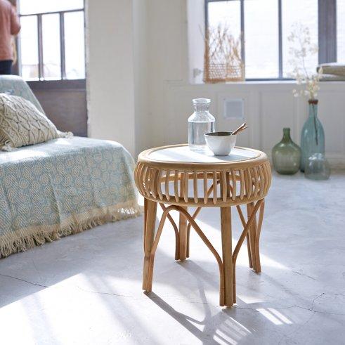 Zelie Rattan Side Table 40