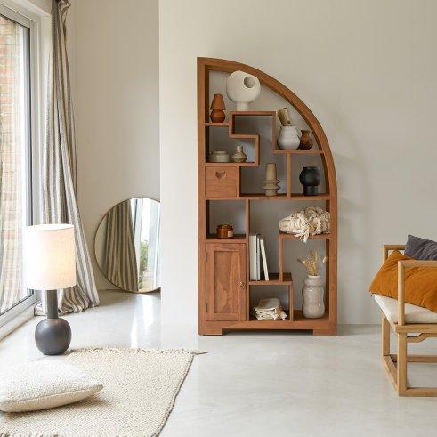 Zen Alco Tipo Teak Bookcase 90x180
