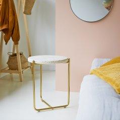 Anatole Metal and Terrazzo Bedside Table Confetti
