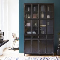 Anna Black Mahogany Display Cabinet 120