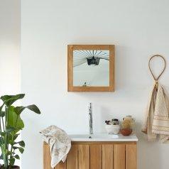 Armario de espejo en teca  43 Jill