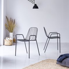 Arty Metal Armchair Dark Grey