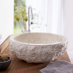 Aufsatzwaschbecken aus Marmor Scrula Cream