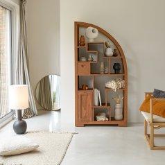 Bücherregal aus Teak 90x180 Zen Alco Tipo