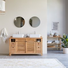 Badunterschrank aus Teak 145 Coline