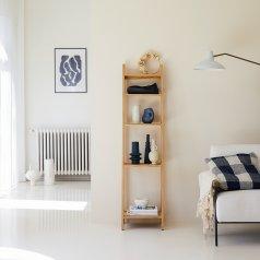 Bahya Step Teak Bookcase 40 x 160