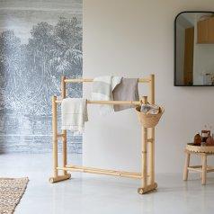 Balyss Bamboo Linen Rack