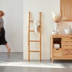 Bamboo Linen Rack